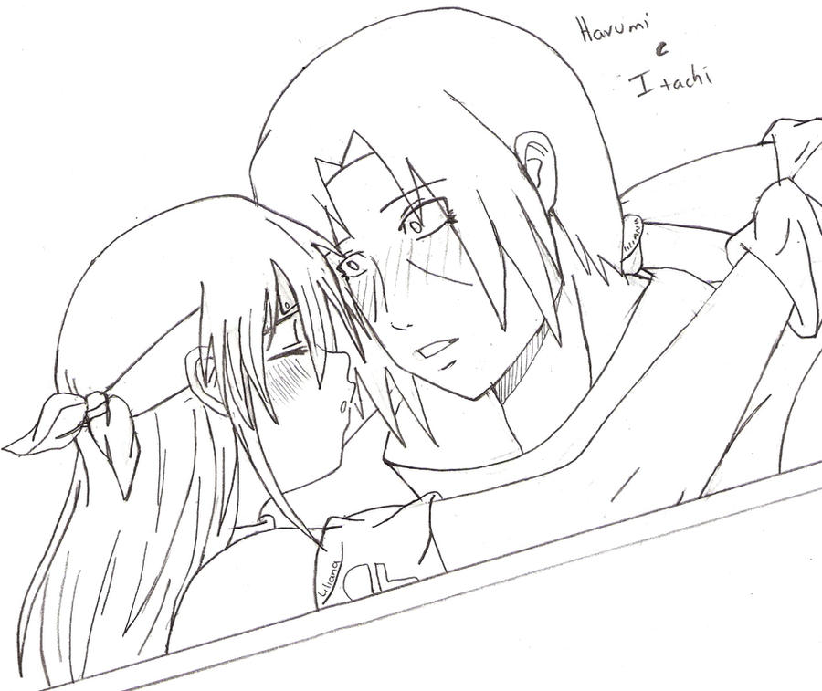 un beso entre itachi y harumi by LILIANA-UZUMAKI on DeviantArt