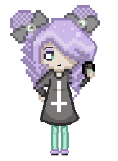 Pastel Goth Pixel Girl by CaramelMoelleux
