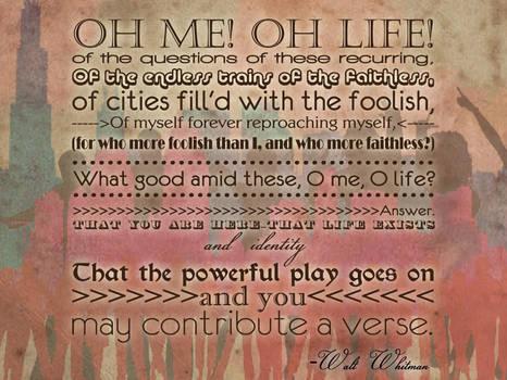 O me! O Life!