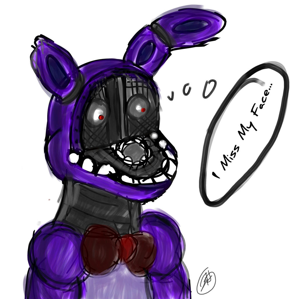 Old bonnie misses his face by prettykittygoesrawr on deviantart