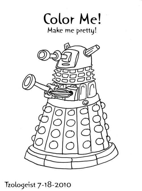 doctor who coloring pages free - dr who and dalaks free coloring pages