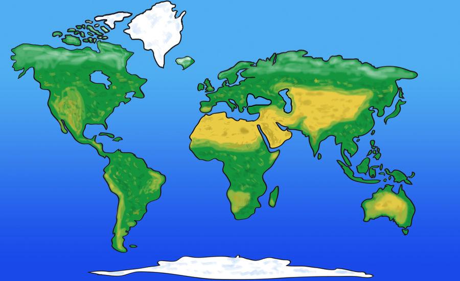World map cartoon style by jonmant on DeviantArt
