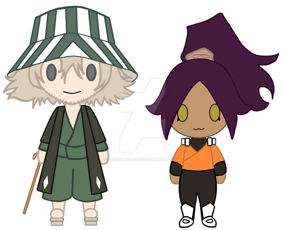 Chibi Urahara and Yoruichi (Now) by PezgirllovesRog