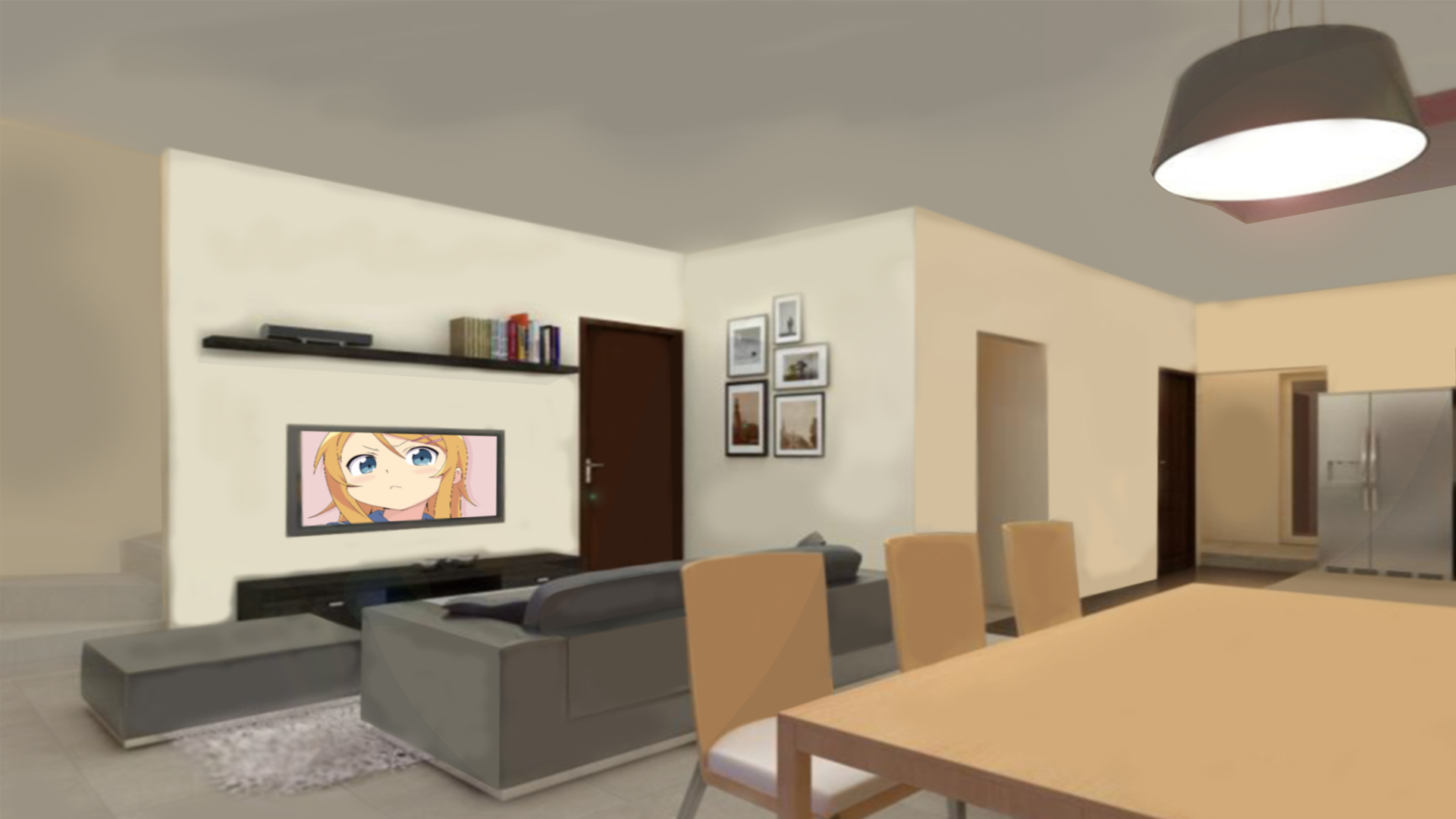 Anime Living Room Background By Rhiezkyrach On DeviantArt