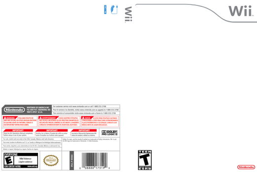 Wii Cover Template - Hi-Res