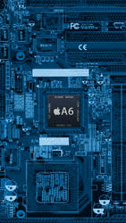 iPhone 5 A6 Wallpaper by iTeppo