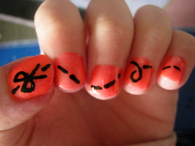 scissors cut nail design by LaMoccacino