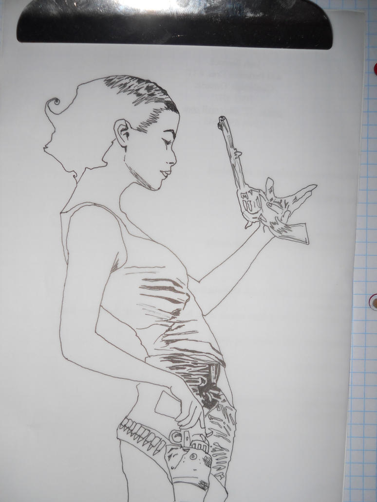 Aileen of 'Dark Tower' - Black Ink by patrickaaron
