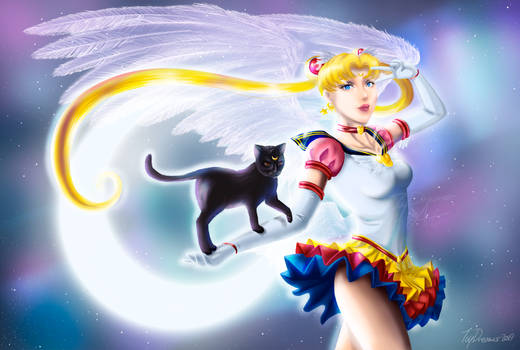Sailor Moon and Luna