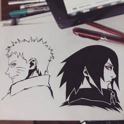 Naruto and Sasuke (Boruto: Naruto The Movie) by Sc-nor