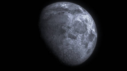 Realistic Moon (Made in Blender)