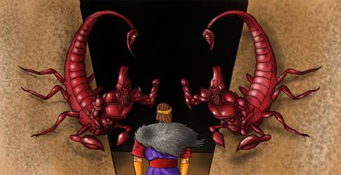 The Girtablilu. Scorpion men of mount Mashu by DomeGiant