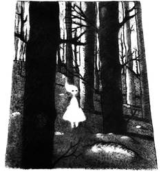 You found me (dry point print)