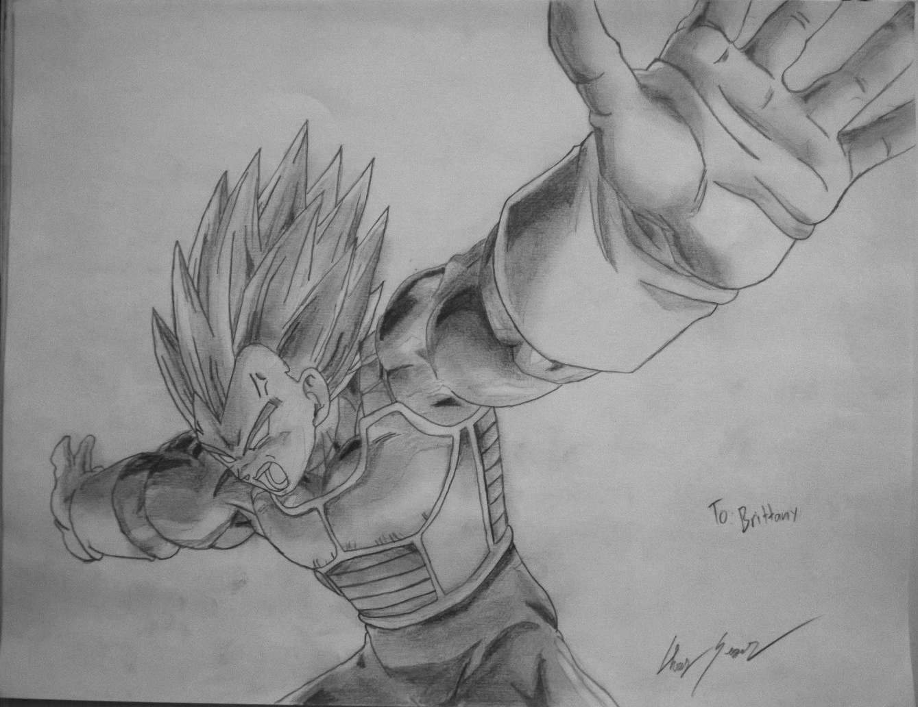 Vegeta 's Final Flash: Pencil Drawing by Vyscerate on ... - photo#14