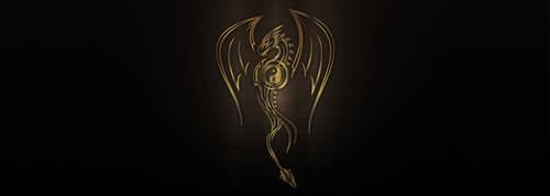 Vector bronze metallic dragon by PeterKorbas
