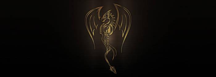 Vector bronze metallic dragon