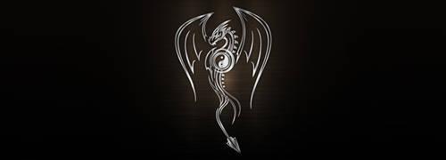 Vector silver metallic dragon by PeterKorbas