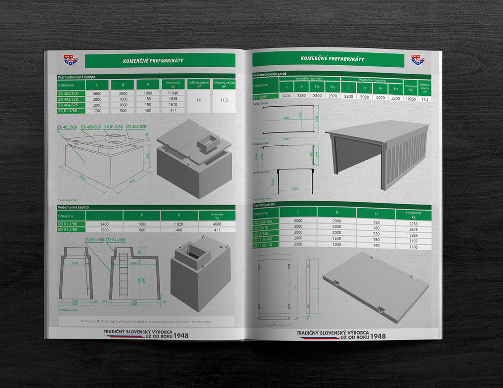 Product sheet of precast - commercial by PeterKorbas