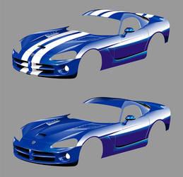 Development stage of vector Dodge Viper