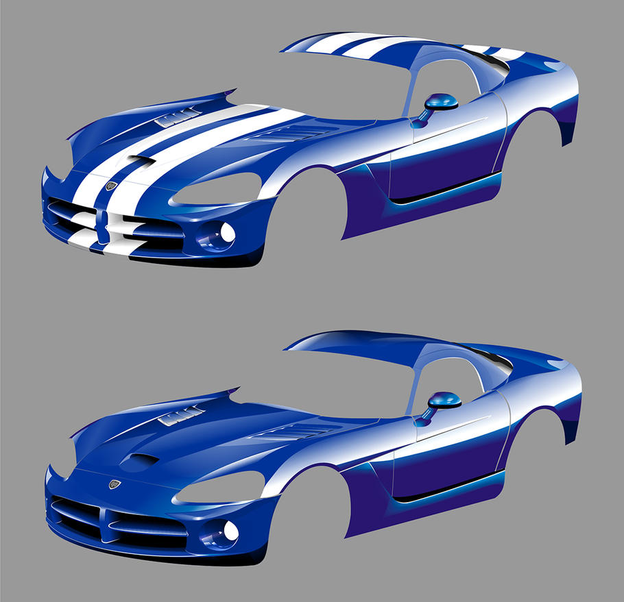 Development stage of vector Dodge Viper by PeterKorbas