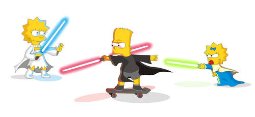 Simpsons/Star Wars crossover/parody. Together