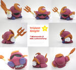 Trident Knight Painted Polymer Clay Sculptures
