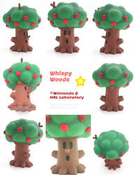 Whispy Woods Painted Polymer Clay Sculpture
