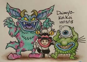 Aaahh!!! Real Monsters, Inc. by Daimyo-KoiKoi