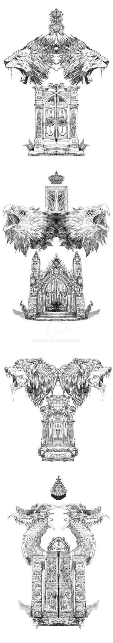 Gates by Marikobard