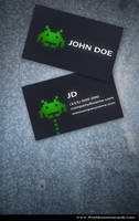 Space Business Card 2 sides by Freshbusinesscards