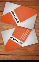 Orange Business Card by Freshbusinesscards