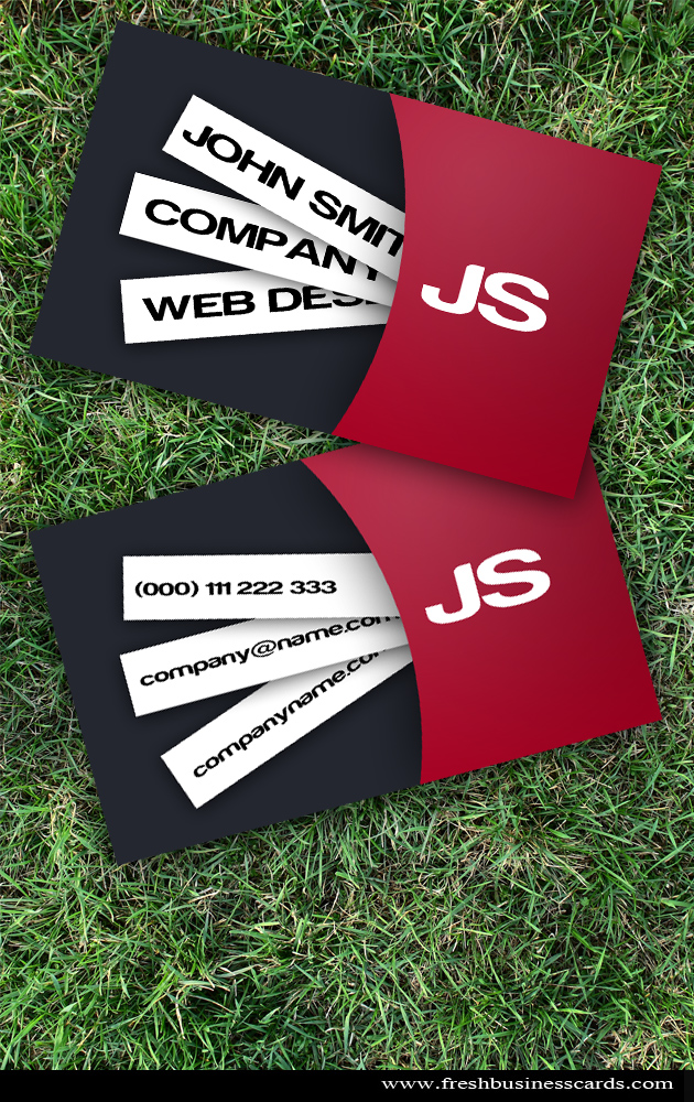 Modern Red Business Card by Freshbusinesscards