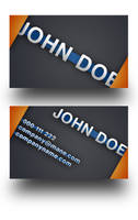 Orange Modern Business Card by Freshbusinesscards