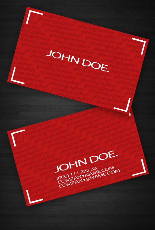 Business Card For Photographer by Freshbusinesscards