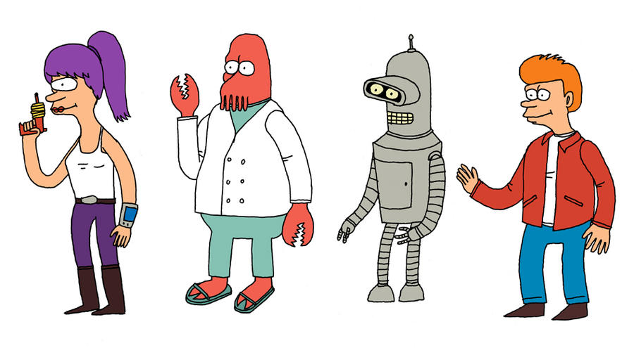 Futurama Drawn From Memory by Teagle
