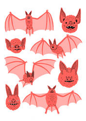 Bats Risograph by Teagle