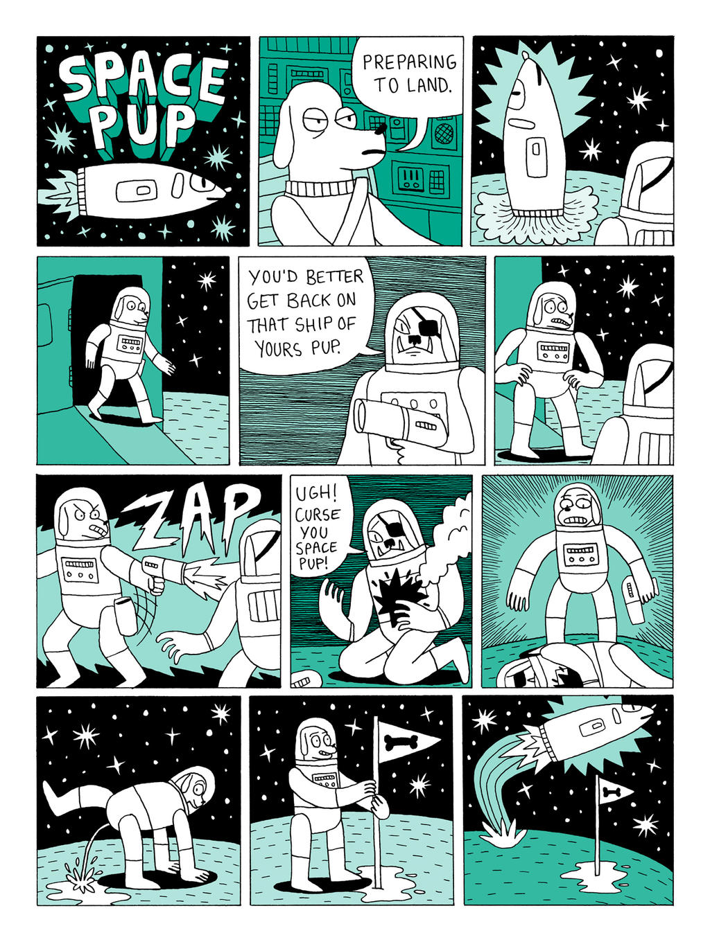 Space Pup - Dog Comics 2 by Teagle