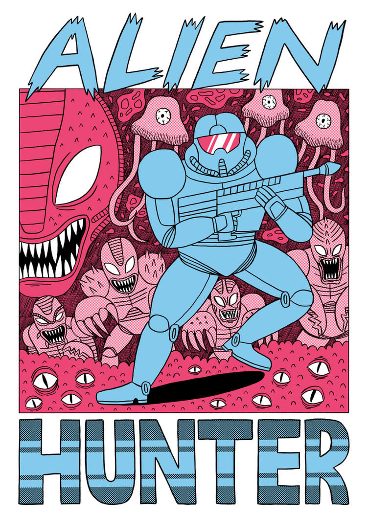 Alien Hunter - Tshirt design by Teagle