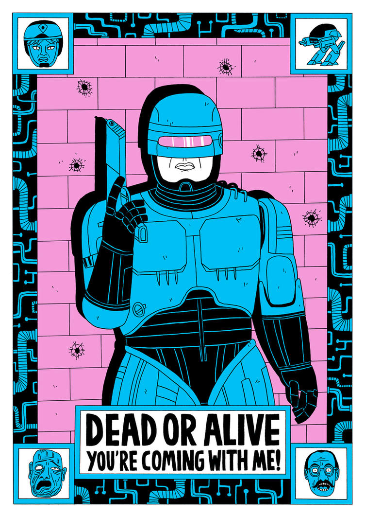 Robocop - Illustrated Mind by Teagle