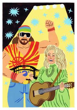 Randy Savage and Dolly Parton