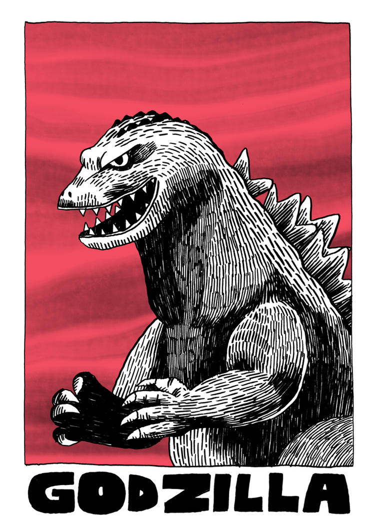 Godzilla by Teagle