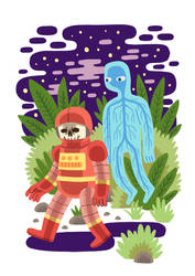 Haunted Spacesuit by Teagle