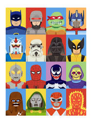 Pop Culture Portraits by Teagle