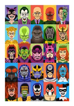 Gosh Comics - Villains