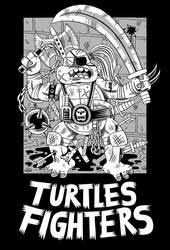 Turtles Fighters - T-shirt design