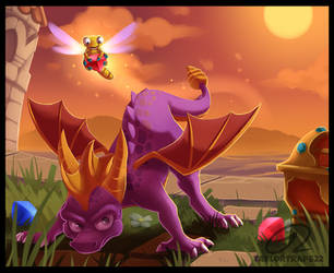 Fanart - Spyro the Dragon by TaylorTrap622