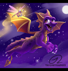 Spyro the Dragon - Night Flight by TaylorTrap622