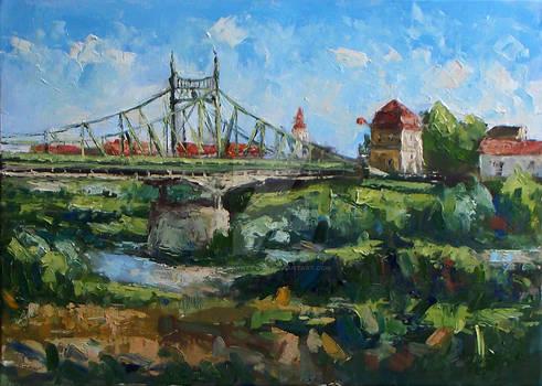 Old bridge and Customs in Arad