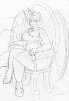 Anthro Princess Celestia
