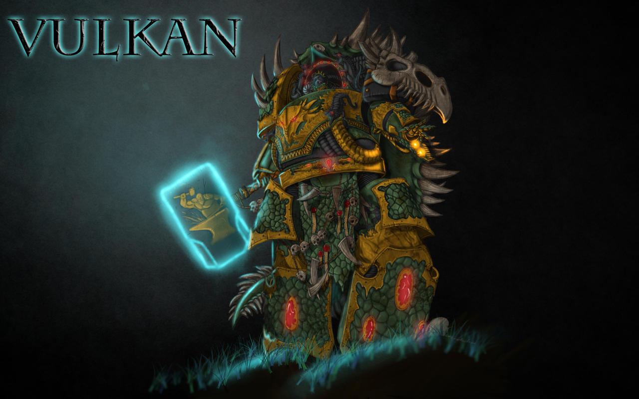 Vulkan, Salamanders Primarch by Shamblin85